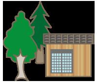 森林伐採・物置解体